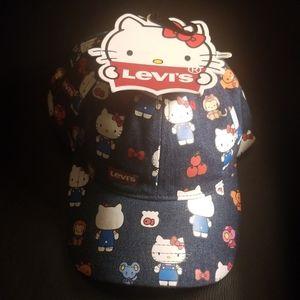 Hello Kitty x Levi's baseball cap NWT